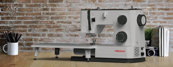 INDUSTRIAL STRENGTH HEAVY DUTY Necchi Q132A Sewing Machine & Accessories PLUS Extension Table Perfect For Sewing Leather & Upholstery